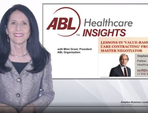 Value based managed care contracting